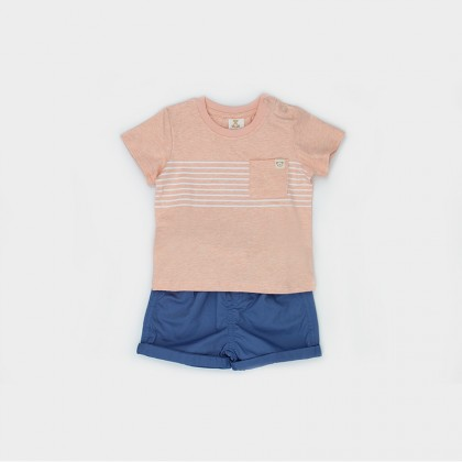 Printed T-shirt with Shorts Suit