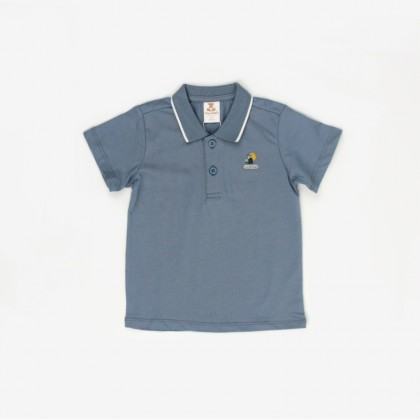 Jersey Polo with Embroidery Patch